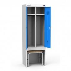 Металлический шкаф для раздевалок ШРЭК-22-530 ВСК