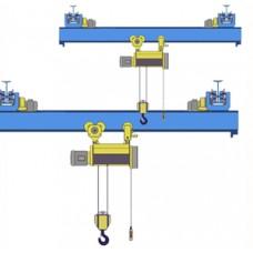 Кран мостовой однобалочный подвесной однопролётный г/п 3,2 т пролет 12,0 м