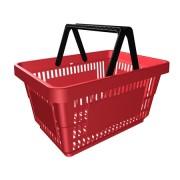 Пластиковая покупательская корзина 27 л.