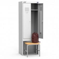 Металлический шкаф для раздевалок ШРК 22-600-ВСК