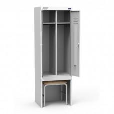 Металлический шкаф для раздевалок ШРК 22-800 ВСК