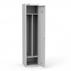 Металлический шкаф для раздевалок ШРС 11-400 с перегородкой